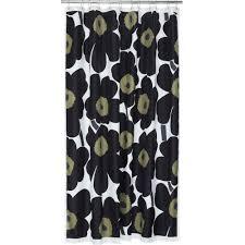 Marimekko Unikko Duvet Shower Curtain Unikko Black
