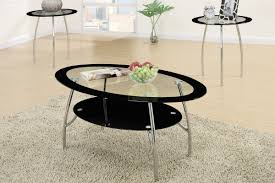 3 piece end table set 3 piece coffee table set with black glass and metal legging