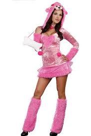 Eeyore Halloween Costume Pink Poodle Womens Dog Costume Pink Queen