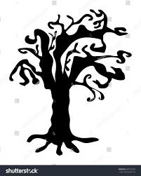 scary halloween white background halloween creepy scary bare tree vector stock vector 487752397
