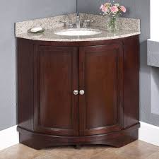 All Wood Vanity For Bathroom by Bathroom Adorable Brown Corner Bathroom Vanity Using Bamboo