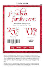 chapters indigo canada 10 off online purchases 25 off in store