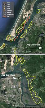 coos bay map crabbing clamming the largest oregon bay