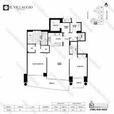 Grandeur 8 Floor Plan Il Villaggio Unit Bh 03 Condo For Rent In South Beach Miami
