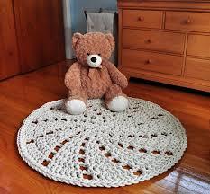 pinwheel rug round cotton rug handmade home decor