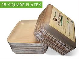 bamboo disposable plates disposable eco friendly palm leaf dinner party plates by sustainmi