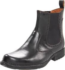 rockport northfield plain toe boot mens black leather work boots
