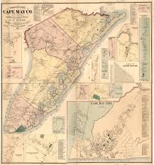 County Map Of Nj Cape May County Nj Wall Map