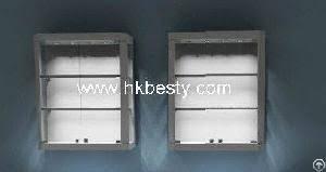Oak Wall Mounted Display Cabinet Sunglasses Display Case Storage Holder Organizer Wall Mount