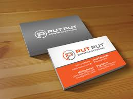 bold professional business card design for put put contracting