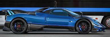 custom pagani blue carbon pagani zonda roadster f 1 1 cars