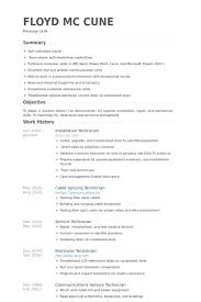 Service Technician Resume Sample Installation Technician Resume Samples Visualcv Resume Samples