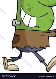 cartoon character halloween frankenstein vector image