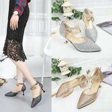 wedding shoes malaysia lcfu764 women pointed anklets high heel wedding shoes lighter