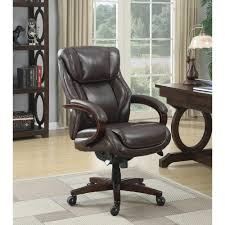 brown leather executive desk chair la z boy bellamy coffee brown bonded leather executive office chair
