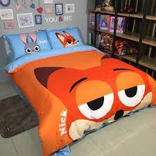Disney Bed Sets Nick Fox Zootopia Duvet Cover Bedding Sets For Kids Disney Bedding