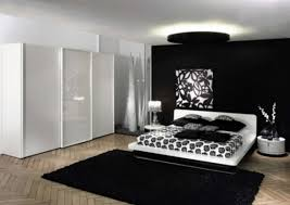 Black And White Modern Rug Bedroom Large Black White Bedroom Decor With Black Fluffy Rug