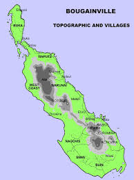 Solomon Islands Map Bougainville Kuri Resort Buka