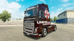 volvo truck commercial umbrella corporation skin for volvo truck for euro truck simulator 2