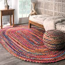 9 X 6 Area Rugs Amazon Com Casual Handmade Braided Cotton Multi Area Rugs 7 Feet