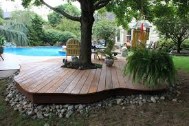 Slope For Paver Patio by Home Design Backyard Deck Ideas Ground Level Kids Image On Awesome