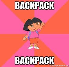 Dora The Explorer Meme - backpack backpack noob explorer dora meme generator