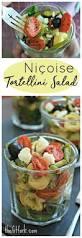 this niçoise tortellini salad says summer thefitfork com