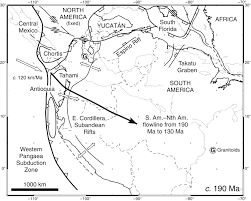 Map Of Central America And Mexico by Tectonic Evolution Of The Gulf Of Mexico Caribbean And Northern