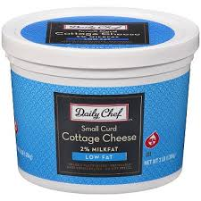 Cottage Cheese Low Fat by Daily Chef Small Curd Low Fat Cottage Cheese 3 Lbs Sam U0027s Club