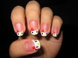 picture 7 of 10 hello kitty nail art designs for short nails