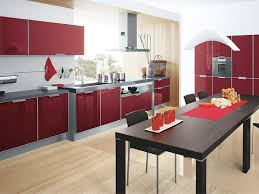 Red Kitchen Backsplash Tiles Kitchen Furniture Color Combination Built In Microwave Stainless
