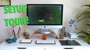 Best Buy Desks New Office U0026 Desk Setup Tour 2016 Youtube