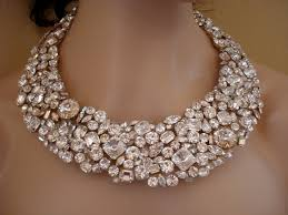 bridal necklace crystal images Chunky swarovski statement necklace bridal necklace crystal bib jpg