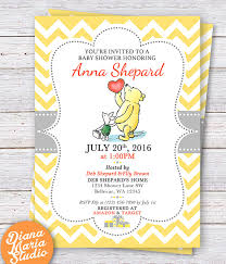 classic winnie the pooh baby shower invitations classic winnie the