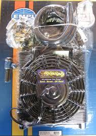 oil cooler fan kit oil cooler fan kit 96 plate cooler w fan empi full flow