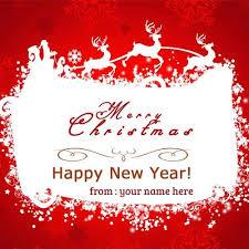 Merry Birthday Card Merry Christmas Santa Claus Xmas Birthday Cakes With Name Edit