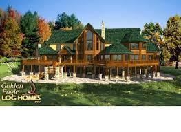 large log home floor plans golden eagle log and timber homes floor plan details acadia 6545al