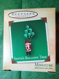 2004 hallmark miniature ornament santa s balloon tree hallmark