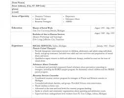 social worker resume template free resume templates