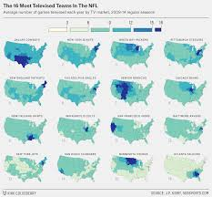 At T United States Coverage Map by Which Nfl Team Are You Stuck Watching Every Sunday Fivethirtyeight