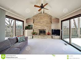 family room with stone fireplace stock image image 13351541 family room with stone fireplace stock photos