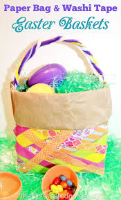 paper bag u0026 washi tape easter basket u2013 the pinterested parent