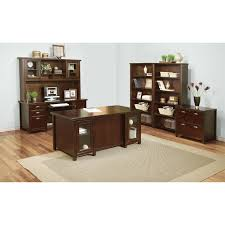 Double Pedestal Desk With Hutch by Kathy Ireland Home By Martin Tlc680 Tribeca Loft Double Pedestal