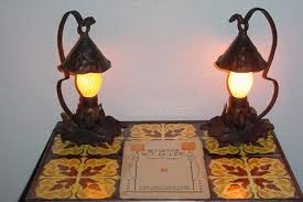 Arts Crafts Lighting Fixtures Vintage Arts Crafts Table Ls Antique Hammered Table L