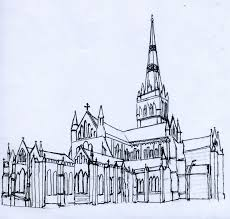 gothic cathedral interior drawing winning creative study room in