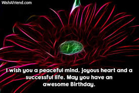 i wish you a peaceful mind birthday message