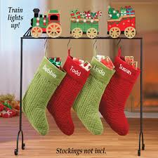 light up train christmas stocking holder from collections etc