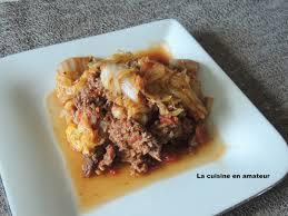 cuisiner le chou chinois cuit la cuisine en de maryline chou chinois à la bolognaise