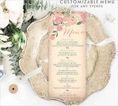 wedding menu template templates bridal shower templates microsoft with free printable