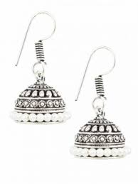 Buy Tribal German Silver Jhumka Jhumkas Earrings Oxidized German Silver Jhumka Earrings Online